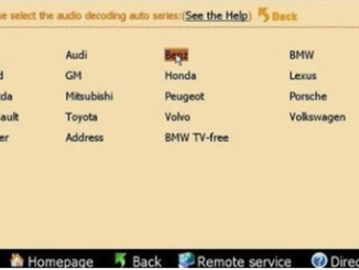 Decode Audio for Benz via Digimaster 3-3