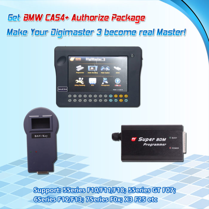 CAS4+ Authorize Package Works with Digimaster 3/CKM100 for BMW