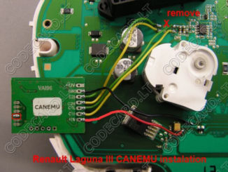 CANEMU CAN filter connection manual for Renault Laguna III-4