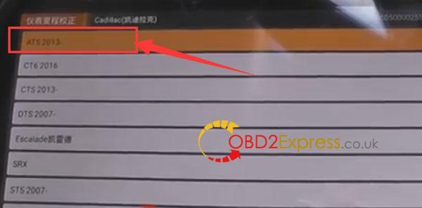 OBDSTAR-X300DP-adjust-mileage-for-cadillac-6