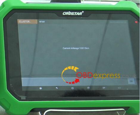 Benz-A-class-W169-odometer-correction-obdstar-x300-dp-plus-7