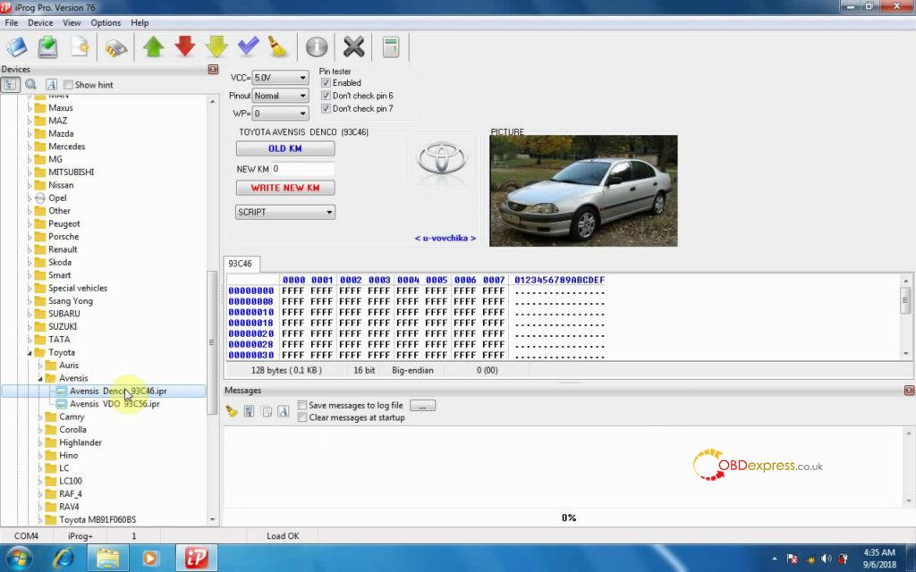 iprog-v76-read-write-km-on-toyota-avensis-13