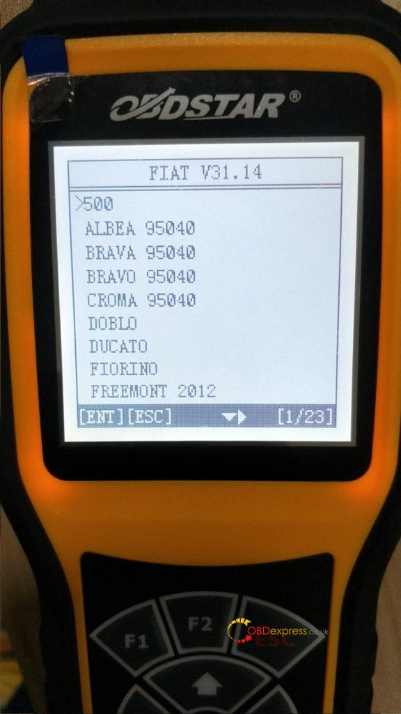 Obdstar X300m Update Fiat V31 14 02