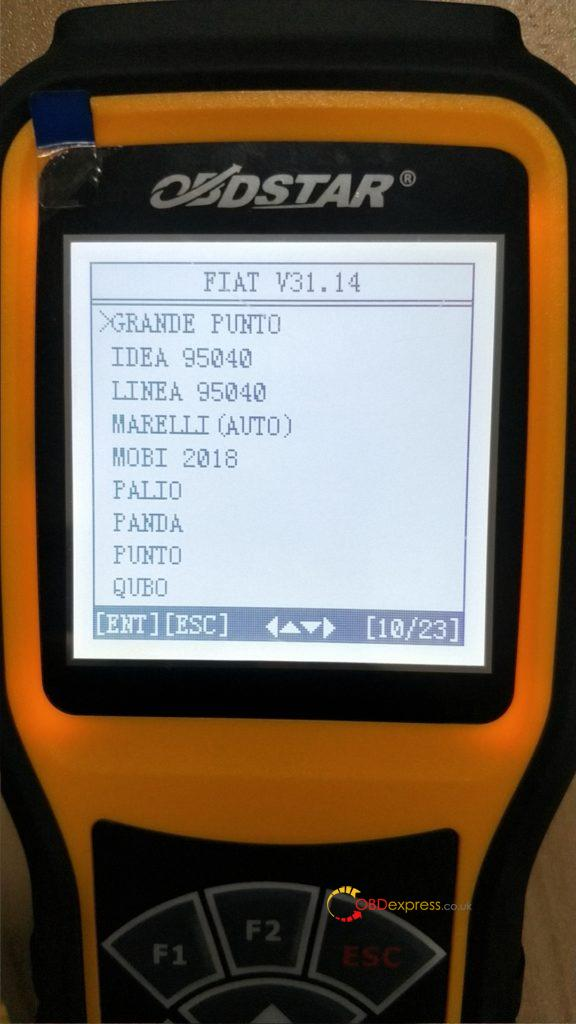 Obdstar X300m Update Fiat V31 14 03