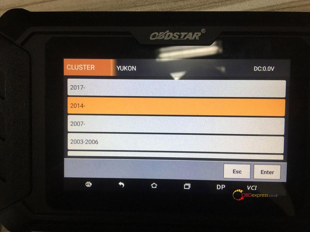 Gm Yukon Mileage Program With Obdstar Odo Master 05