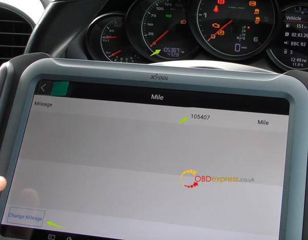 Xtool A80 H6 Correction Mileage For Porsche Cayenne 12