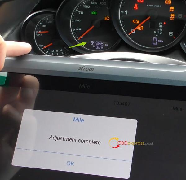 Xtool A80 H6 Correction Mileage For Porsche Cayenne 16