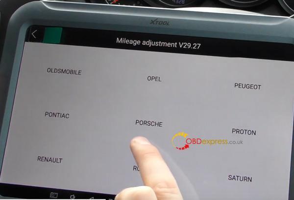 Xtool A80 H6 Correction Mileage For Porsche Cayenne 5