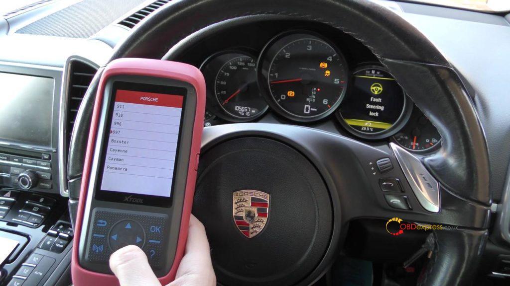 Xtool X100 Pro2 2006 Porsche 911 997 Mileage Programming 04