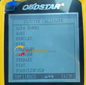 X300m Benz 2013 W204 Mileage Programming 4
