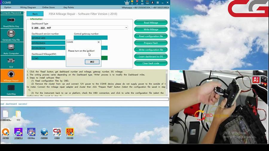 Cgdi Mb W205 Fbs4 Mileage Programming 003