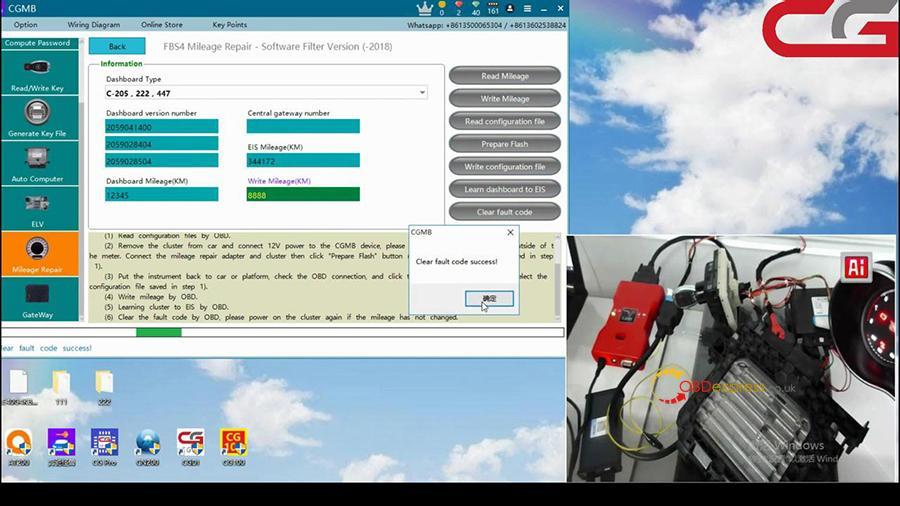 Cgdi Mb W205 Fbs4 Mileage Programming 013