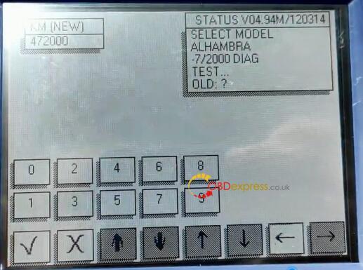 Diprog3 Odometer Correction Seat 7