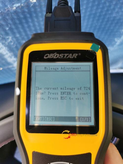 OBDSTAR X300M SEAT MQB Mileage Correction 10