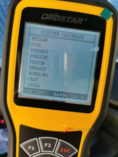 OBDSTAR X300M SEAT MQB Mileage Correction 4