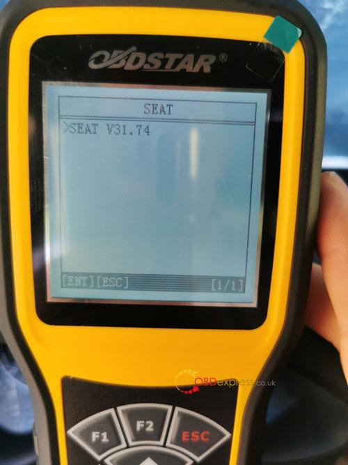 OBDSTAR X300M SEAT MQB Mileage Correction 5