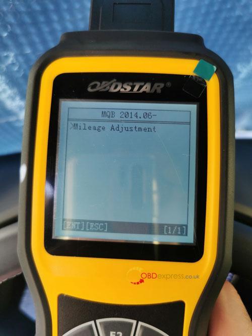 OBDSTAR X300M SEAT MQB Mileage Correction 9