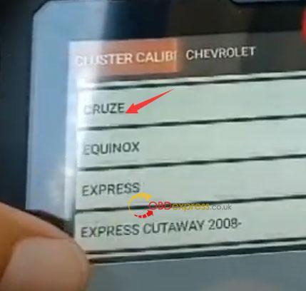 Odomaster Chevrolet Cruze 2010 Mileage Correction 4