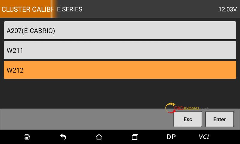 Obdstar Odomaster Mercedes E350 W212 Mileage Correction 03