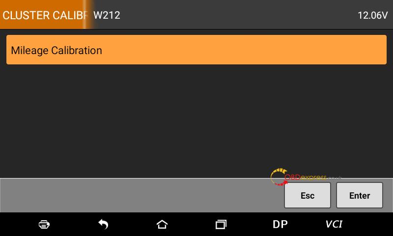 Obdstar Odomaster Mercedes E350 W212 Mileage Correction 05
