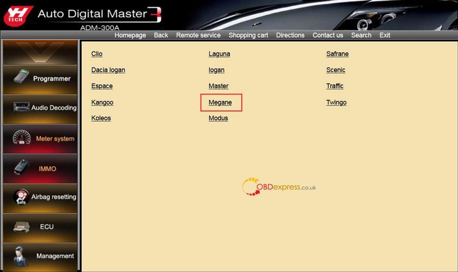 Digimaster 3 Renault Megane 2 Phase 2 Mileage Programming 04