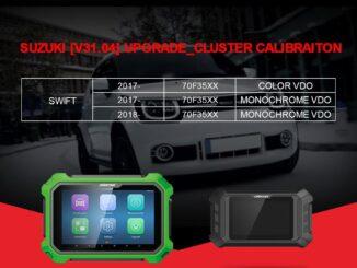 OBDSTAR now supports Suzuki Swift mileage programming