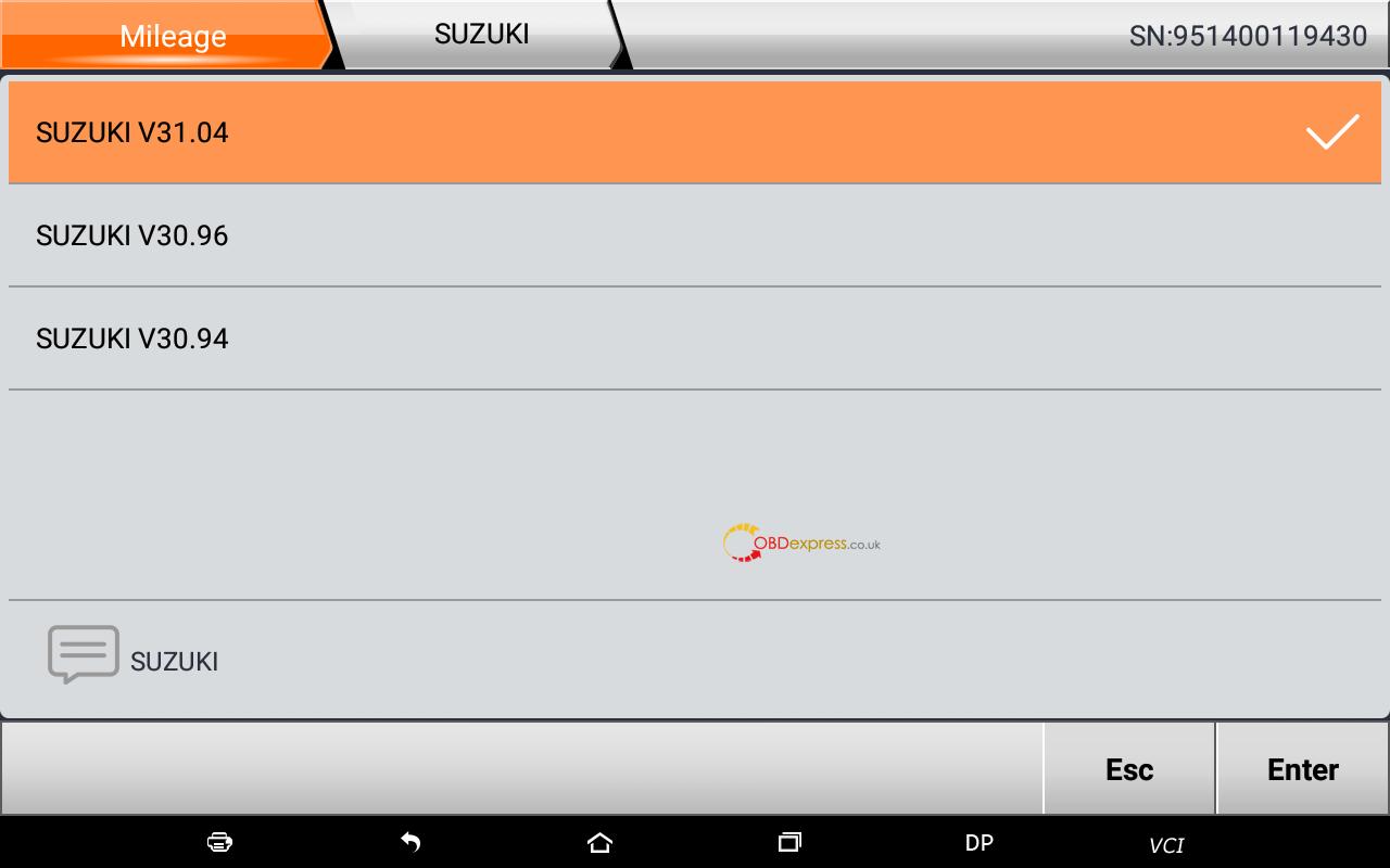 OBDSTAR supports Suzuki Swift mileage programming