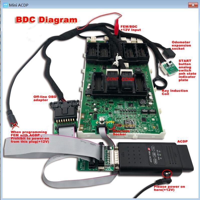 Yanhua Mini ACDP 2018 Mini cooper mileage programming