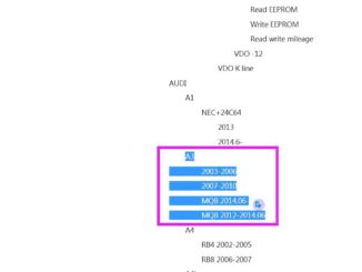 Audi a3 series read and write mileage by obdstar odomaster