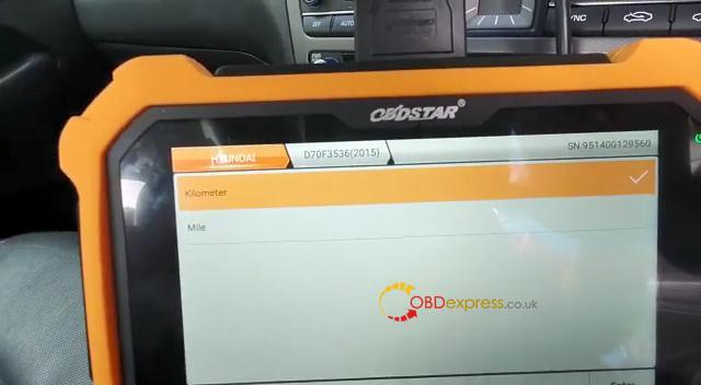 OBDSTAR X300 DP PLUS Hyundai Gensis 2015 Mileage Programming