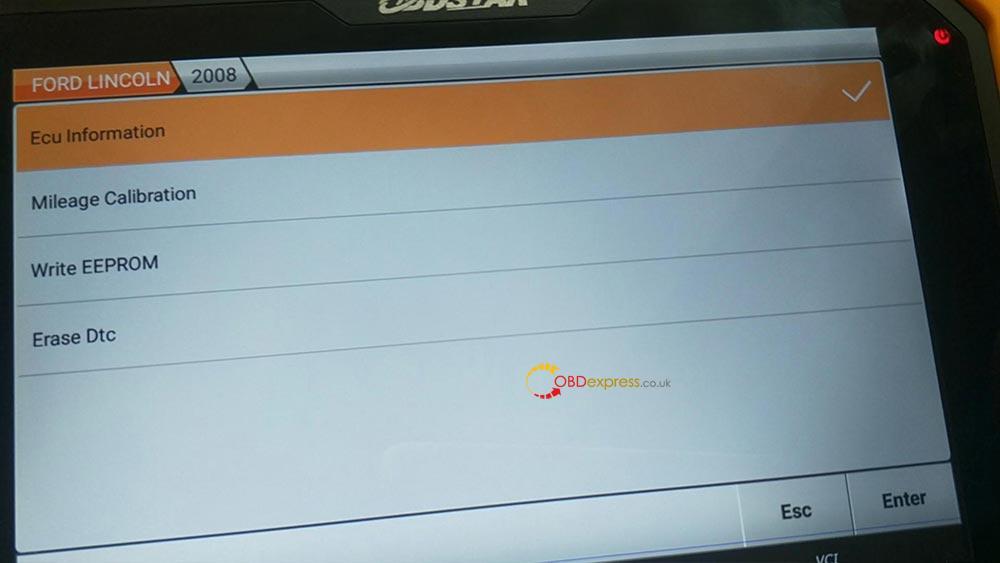 OBDSTAR adjustment function upgrade V31.18 (for Ford)