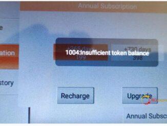 obdstar odomaster error 1004 : Insufficient token balance